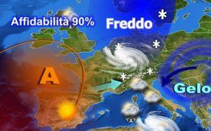 Previsioni Meteo, da giovedì 12 gennaio nuovo peggioramento: in arrivo forte irruzione artica