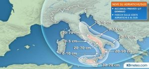 Meteo weekend Befana, neve al centro e al Sud e temperature polari
