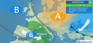Previsioni meteo, weekend con piogge al Sud. Nei giorni della merla temperature in aumento