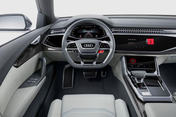 Audi Q8 concept, il suv sportivoche andrà a sfidare le BMW X6 e Mercedes GLE Coupé 04