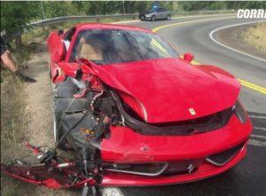 Noleggia una Ferrari 458 e...si schianta: un danno da 300mila euro...VIDEO