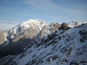 L'Ortles visto dal Passo dello Stelvio (foto Wikipedia)
