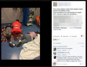 """Nola, malati curati in terra. Vincenzo De Luca: """"Licenziamento responsabili ospedale"""""""