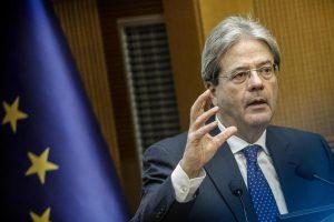 """Gentiloni: """"Rispetto l'Ue, ma no a manovre depressive per l'Italia"""""""