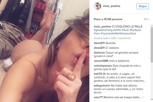 """Paola Saulino: """"Ci vogliono le palle"""". FOTO Instagram senza vestiti"""