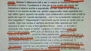 Il duro post contro Virginia Raggi della sorella di Paola Taverna (fonte: Repubblica)