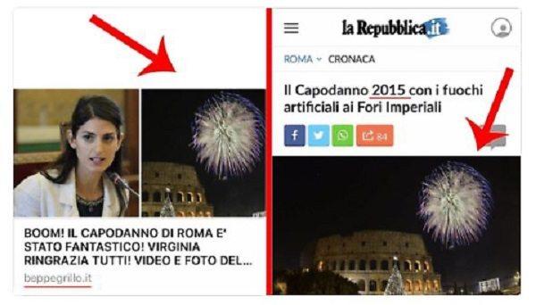 Beppe Grillo gaffe su Capodanno Roma, posta foto della Raggi ma...
