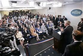 La news room nella Casa Bianca