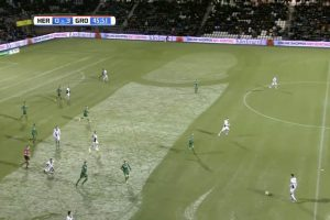 YOUTUBE Heracles-Groningen, clamoroso: ecco cosa spunta dalla neve...