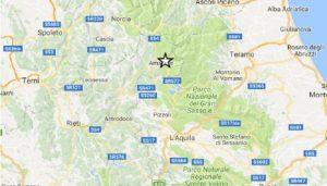 Terremoto: 11 scosse Centro Italia nella notte tra 25 e 26 gennaio 2017