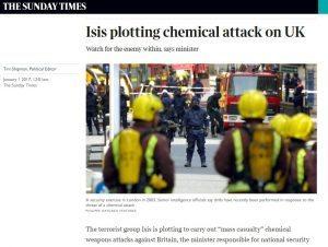 Isis vuole attaccare la Gran Bretagna con armi chimiche