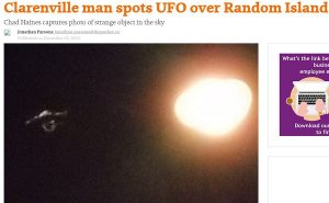 Ufo in Canada? Oggetto non identificato nei cieli di Clarenville FOTO