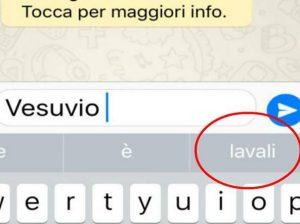 """Apple, se scrivi Vesuvio iPhone suggerisce """"lavali col fuoco"""""""