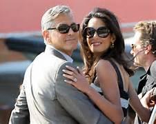 Clooney e la moglie