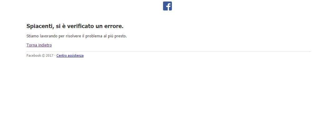 Facebook down, oggi 17 febbraio 2017