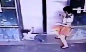 Madre calcia figlia di 3 anni per salvarla dalle porte dell'ascensore