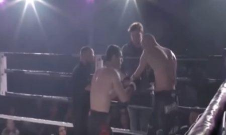MMA: prima gli rimette a posto la spalla, poi lo manda KO
