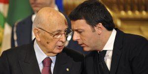"Napolitano molla Renzi. ""Italia, se paese civile, vota nel 2018"""