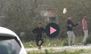 Un frame del video pubblicato da Palermo Today
