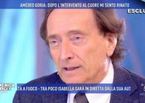 """Amedeo Goria: """"L'operazione al cuore e tutte quelle pillole. Vi svelo la mia paura"""""""