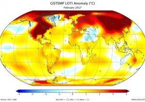 Clima, quello 2017 è il secondo febbraio più caldo dal 1880