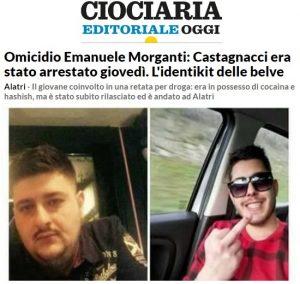 """Mario Castagnacci, Ciociaria Oggi: """"Fermato per droga giorno prima omicidio Emanuele Morganti"""""""