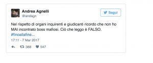 """Procura Figc: """"Agnelli in contatto con boss per biglietti"""". Agnelli: """"E' falso"""""""