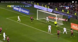 Mario Balotelli video gol Nizza-Caen 2-2: decimo in Ligue 1
