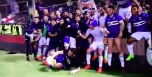 Sampdoria vince derby, video festeggiamenti: Massimo Ferrero niente invasione di campo