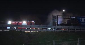 Auto contro tir prende fuoco sulla A1: Stefano Dalena muore carbonizzato