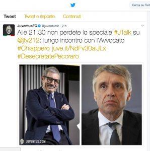 "Caso Juventus-ultrà, club su Twitter: ""Desecretate Pecoraro"""
