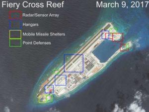 Cina pronta a schierare armamenti e aerei da guerra nel Mar Cinese Meridionale
