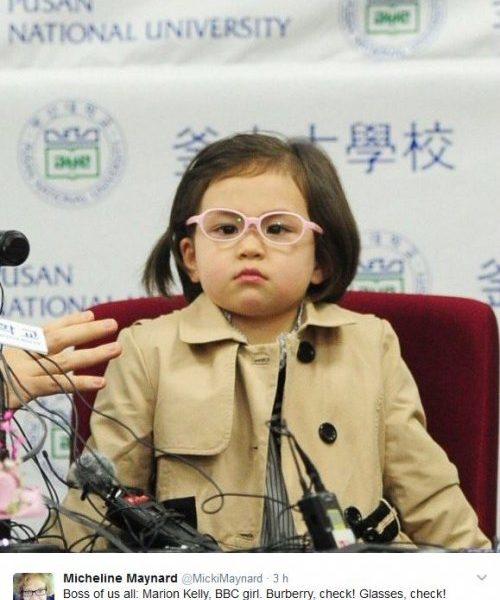 Tutti pazzi per Marion la bimba che ha interrotto l'intervista del padre star del web10