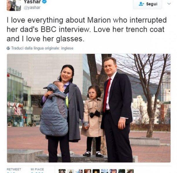 Tutti pazzi per Marion la bimba che ha interrotto l'intervista del padre star del web8