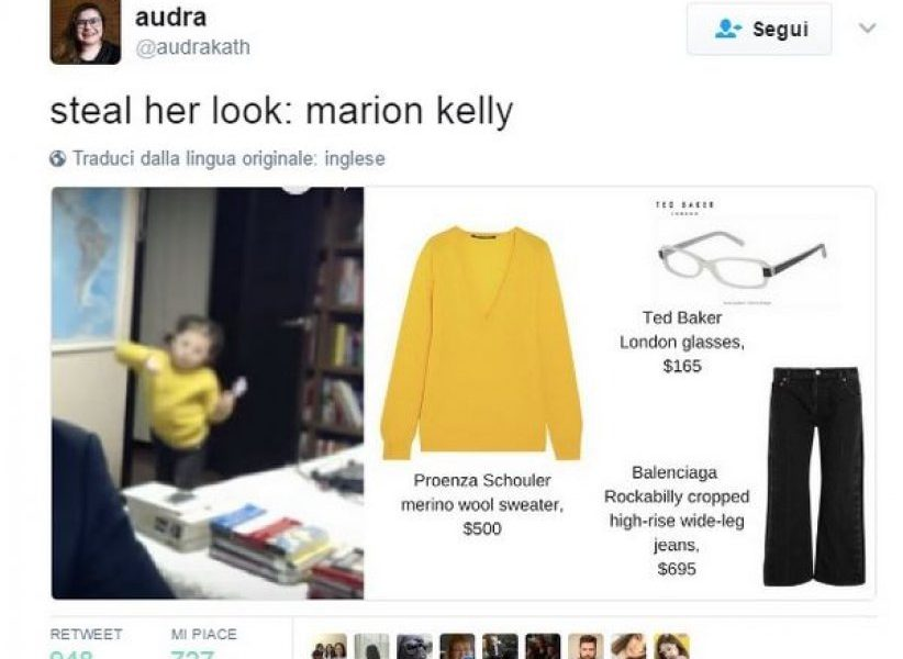 Tutti pazzi per Marion la bimba che ha interrotto l'intervista del padre star del web6