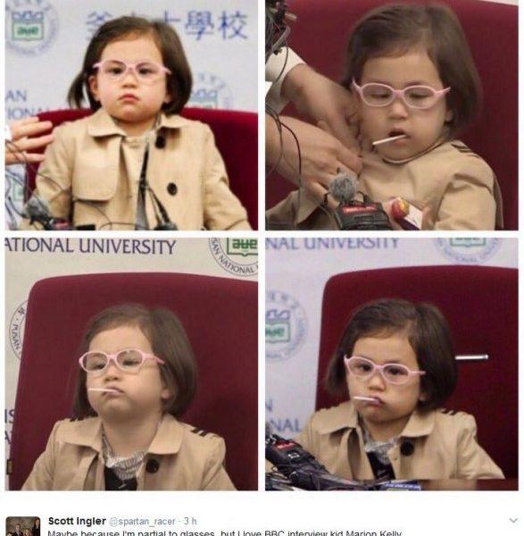 Tutti pazzi per Marion la bimba che ha interrotto l'intervista del padre star del web4