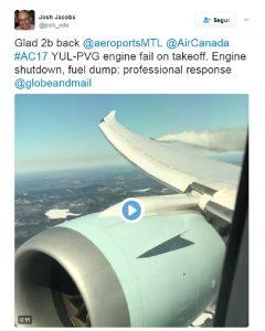 Ala dell'aereo va a fuoco, VIDEO passeggero: pilota costretto a tornare indietro