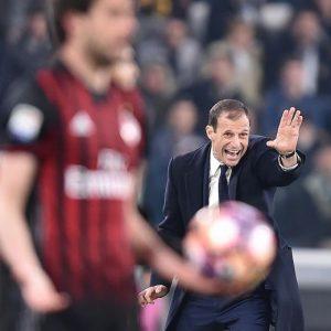 "Juventus-Milan, Allegri: ""Rigore? C'è se l'arbitro lo ha visto"""