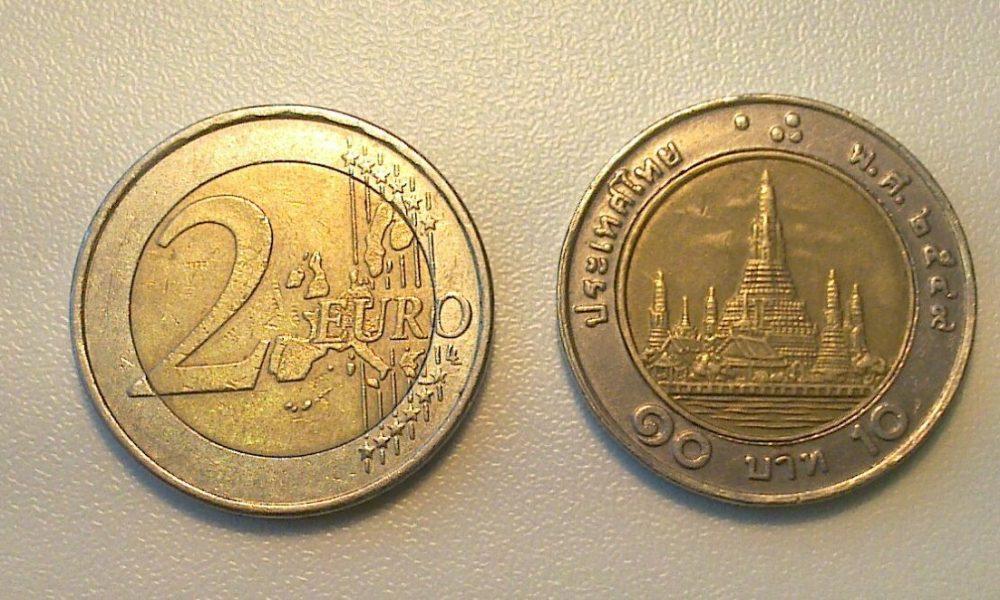 Monete Thailandesi come 2 Euro, a Roma la nuova truffa