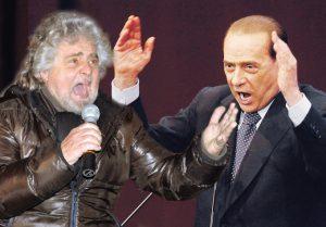 """Berlusconi: """"Beppe Grillo voleva essere sempre pagato in nero"""""""