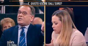 """YOUTUBE Giorgia Meloni contro Cecchi Paone: """"Vada a vivere in Germania se le fa cosi schifo l'Italia"""""""