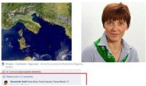 """Scrisse """"Forza Vesuvio"""" su Facebook, Donatella Galli (Lega) condannata"""