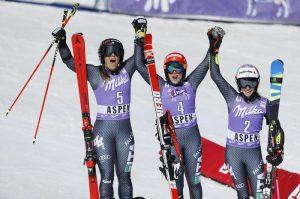 Sci: Federica Brignone, Sofia Goggia e Marta Bassino, tris da sogno a Aspen