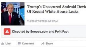 Facebook, il primo bollino rosso è per una fake news su Donald Trump