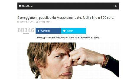 """Il Fatto Quotidaino e la """"multa di 500 euro a chi scorreggia in pubblico"""""""