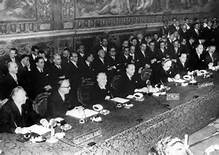 La firma dei Trattati nel 1957