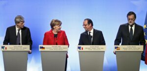 """Vertice Versailles, Hollande e Merkel: """"Dopo Brexit ok a Ue a più velocità""""Vertice Versailles, Hollande e Merkel: """"Dopo Brexit ok a Ue a più velocità"""""""