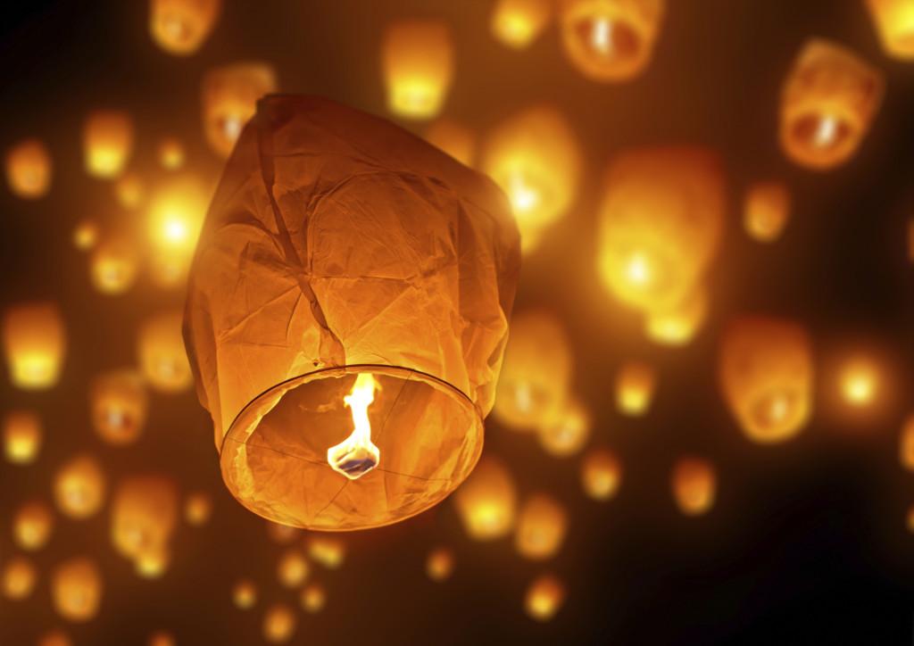 Amianto nelle lanterne cinesi volanti,