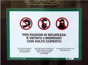 Burqa vietato negli uffici pubblici: la decisione della Regione Liguria