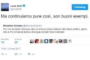 "Massimo Corsaro: ""Polizia rompa la testa ai vandali"". Luca Sofri risponde e lui..."